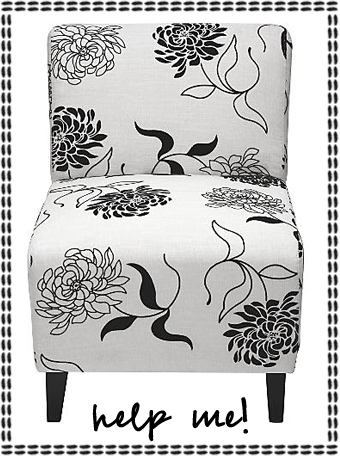Hollywood Black and White Accent Chair
